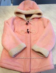 Шикарное Новое Розовое осеннее пальто  OLDNAVY на 2-3-4