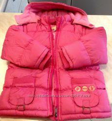 2 Зимние Куртки Розовая ORCHESTRA 98 Голубая ADAGIO 98 см Роз OLDNAVY 2-4