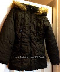 Новая Осенняя Черн Куртка XS на 8, 9, 10, 11 л и Женское Деми пальто OGGI