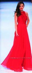 Американское Шикарное Длинное Красное Платье Палантином CHELSEY NITES р 8