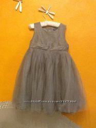 Американские Платья Серое Серебристое Cинее Розовое Черно-белое 2-7 л