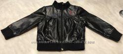 Ультрамодная чёрная деми весна кожаная куртка RALPH LAUREN POLO 2, 3, 4 г