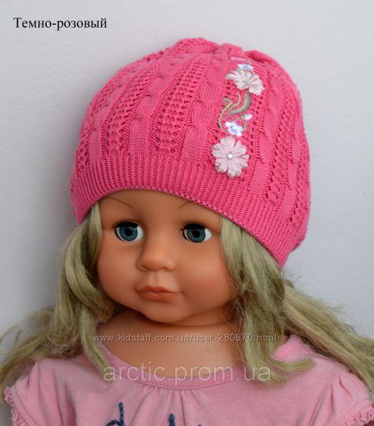 Вязание шапочки весна на девочек 42