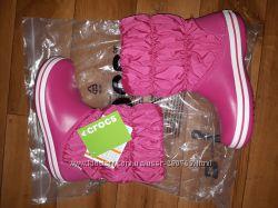 Новые сапоги winter puff boot Crocs, W8