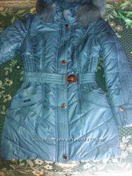 Новая  с этикеткой зимняя курточка на поясе