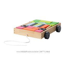 Тележка с кубиками Mula Ikea, в наличии