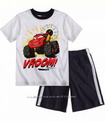 Комплекты футболка и шорты Тачки