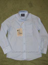 Рубашка голубая BOGI в наличии р. 116-122, 122-128, 128-134, 134-140, 140-146