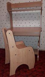 Парта и стул растишка Абсолют Школярик.
