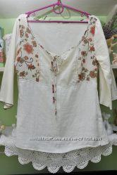 Красивые легкие рубашки h&m. р. 8-10
