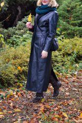 Теплое пальто из натуральной кожи CANDA by C&A. р. 38. Оригинал