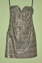 Шикарное золотое платье-бюстье H&M, 36р