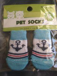 Носочки для котов, собачек. Размер S.