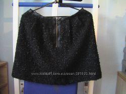 Нарядная женская юбка нитка букле с люрексом, подкладка, Oasis, р-р 12 38 М