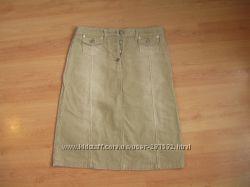 Женская юбка вельвет Warehouse, до колен, р-р 10UK, 6USA, 38EUR, как новая