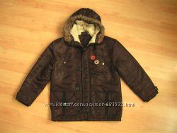 Куртка на мальчика Gear 12-13 лет осень-весна, с капюшоном на синтепоне