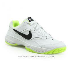 Белые кроссовки NIKE для тенниса р-р 38, кожа-текстиль, Америка