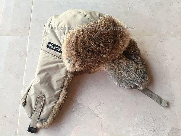 Зимняя шапка ушанка Сolumbia на мальчика 9-14 лет, на 52-56см, мех кролика