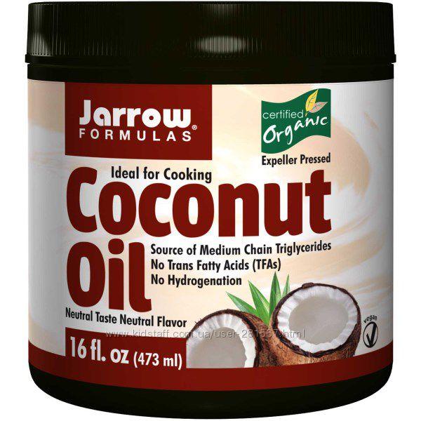 Кокосовое масло органическое, рафинированное Jarrow Formulas 454 грамма
