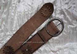 Ремень пояс кожаный широкий коричневый Next р-р М