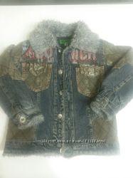 Демисезонная джинсовая куртка на меху на мальчика 5-6 лет
