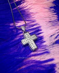 Крестик 3Д Swarovski