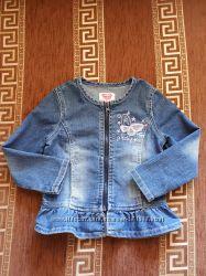 Джинсовая куртка с баской на рост 92-98