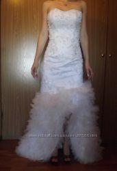 Красивое свадебное платье с ручной вышивкой