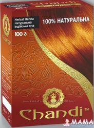 Лечебная травяная краска для волос Чанди