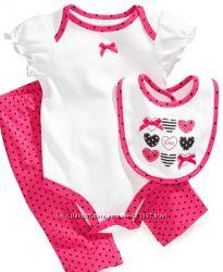 Очаровательные комплекты для малышек 3 расцветки