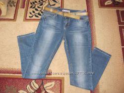 джинсы женские  вростовке , с завышеной посадкой
