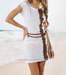 шикарное пляжное платье  шикарного белого цвета