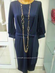 Шикарное синее платье