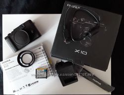 Fuji Fujifilm X10  запасная батарея  бленда