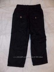 Зимние плащевые брюки на флисе 98-164 см