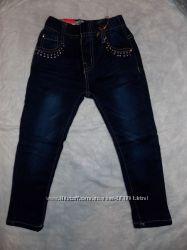 Зимние джинсы для девочек 98-128 см