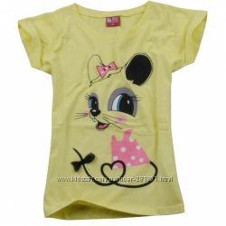 Футболки и блузки для девочек 98-146 см