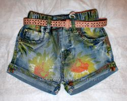 Джинсовые шорты и юбки для девочек 116-164 см