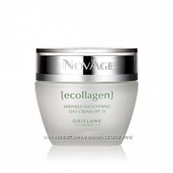 Дневной, ночной крем против морщин NovAge Ecollagen, гель для умывания Nova