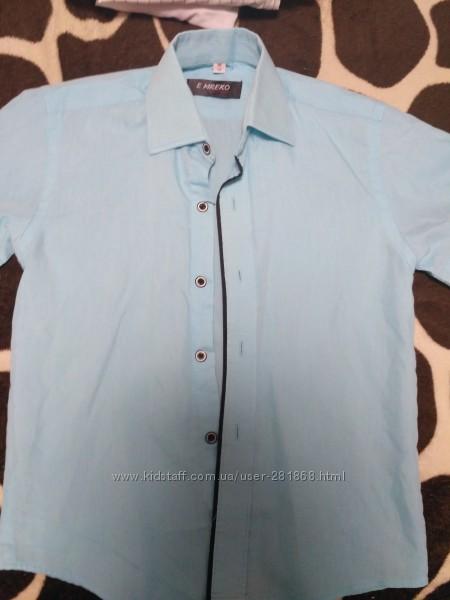 Фирменные рубашки  в школу для мальчика р122-130 в идеальном состоянии