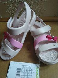 Босоножки Crocs Keeley Charm, bayaband sandal k С10,11, с12, С13, j1, j3,27