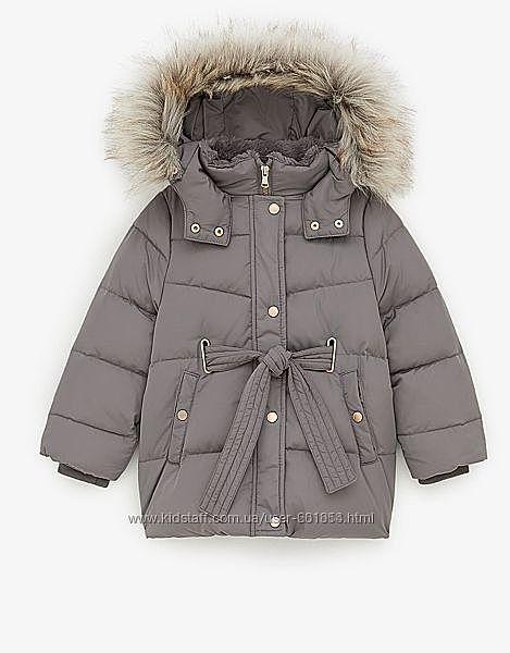 Зимняя пуховая куртка Zara размер 140 см