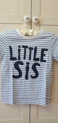 Хлопковые футболки в полоску H&M 6-8