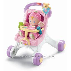 Ходунки коляска для кукол Fisher-Price Brilliant Basics Stroller Wallker