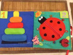Книжка-развивашка для детей от 1 до 5