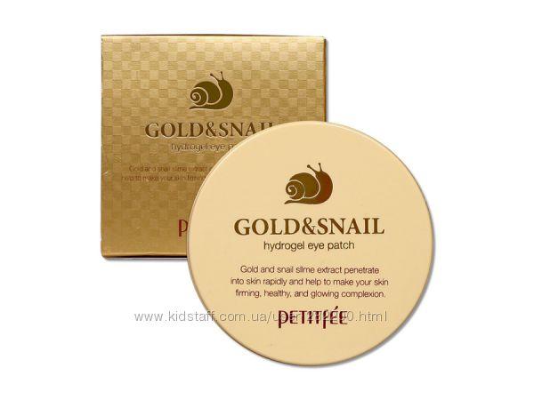 Улиточные гидрогелевые патчи с золотом Petitfee Gold&Snail Hydro Gel Eye