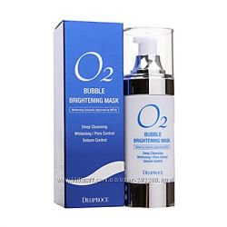 Кислородная маска для глубокого очищения кожи  Deoproce O2 Bubble Brighteni