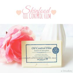 Матирующие салфетки для лица SkinFood Oil Control Film