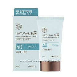 Солнцезащитный крем  The Face Shop Natural Sun Eco No Shine Hydrating Sun
