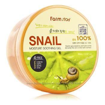 Гель с экстрактом улитки Farm Stay Snail Moisture Soothing Gel